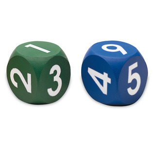 Large soft foam number numerical dice learning resources