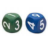 Small soft foam number numerical dice learning resources