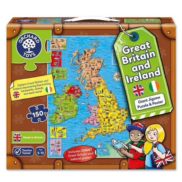 Large orchard toys gb and ireland jigsaw puzzle