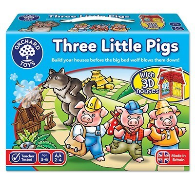 Large orchard toys three little pigs game