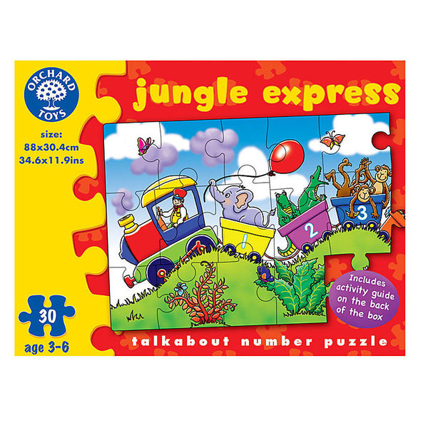 Large orchard toys jungle express talk about number jigsaw puzzle animals counting
