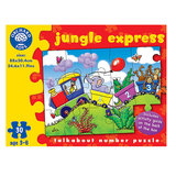 Small orchard toys jungle express talk about number jigsaw puzzle animals counting