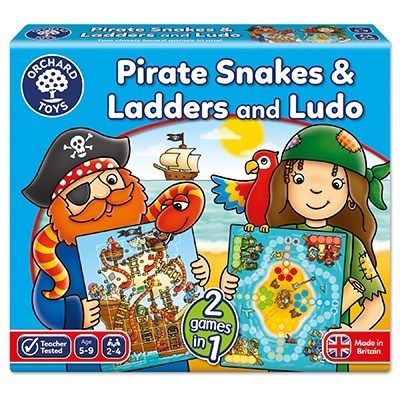 Large orchard toys pirate snakes and ladders game