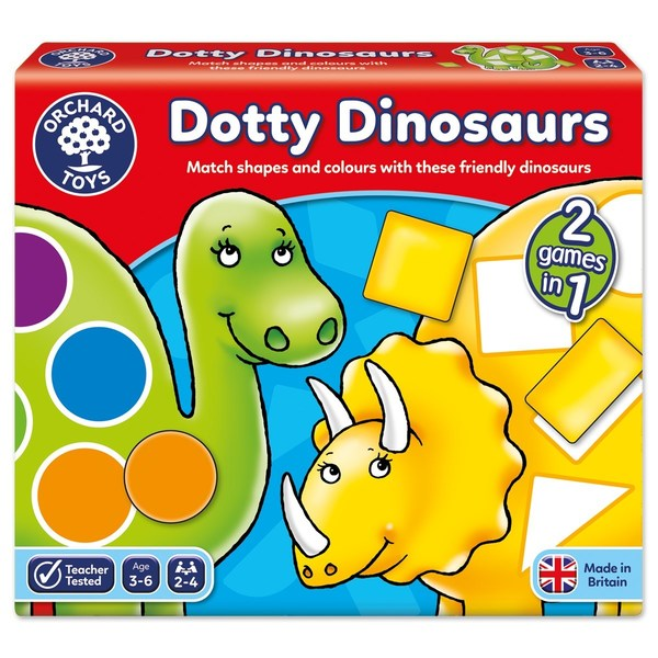 Large orchard toys dotty dinosaurs game