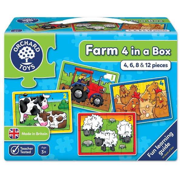 Large orchard toys farm four in a box jigsaw puzzle