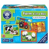 Small orchard toys farm four in a box jigsaw puzzle