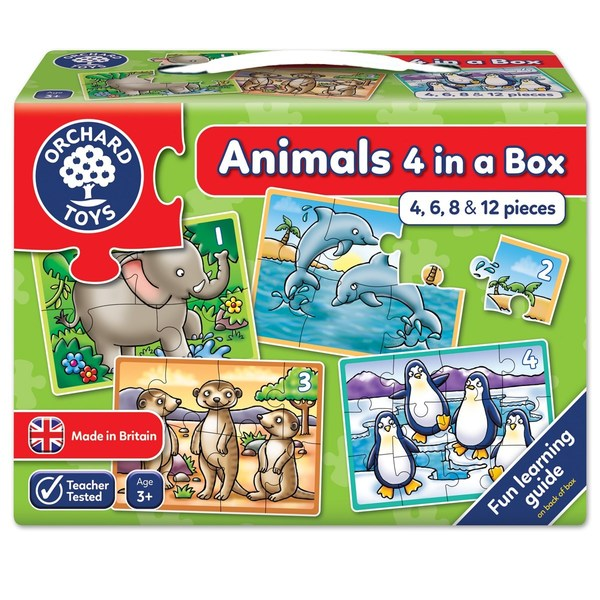 Large orchard toys animal four in a box jigsaw puzzle