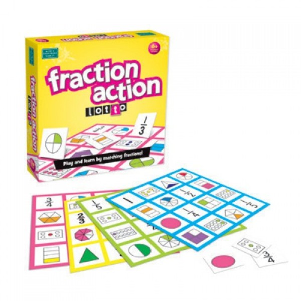 Large lotto fraction action maths mathematics game