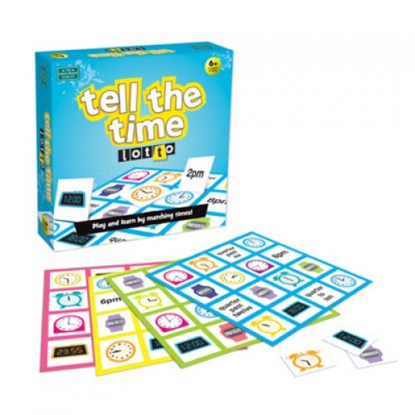 Large lotto tell the time clock digital and analogue game