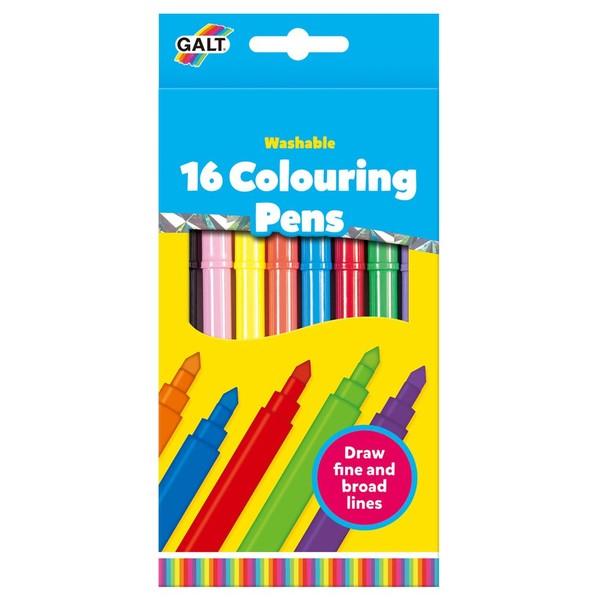 Large fun junction galt 16 washable felt tip pens colouring colour