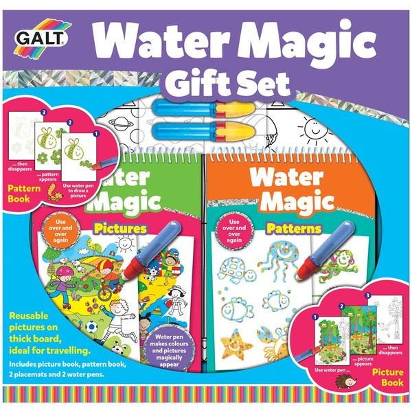 Large galt water magic gift set water art with pens for children aged 3 three years up