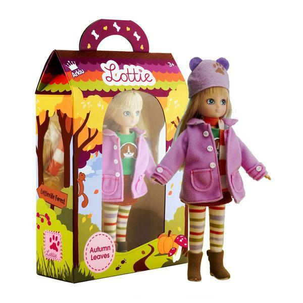 Large lottie doll autumn leaves