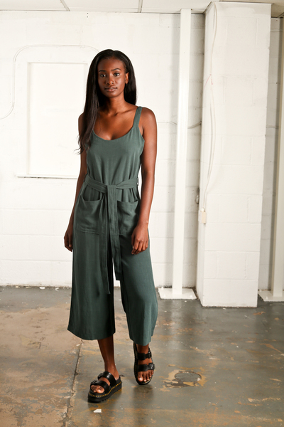 Large nyss19green jumpsuit dungaree
