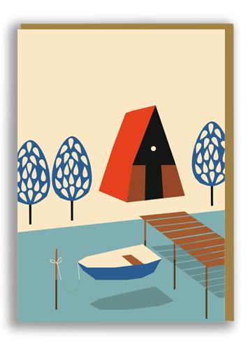 Large lake card