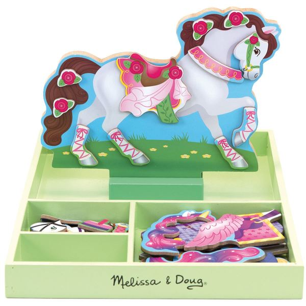 Large magnetic dress up horse