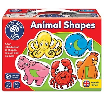 Large animal shapes box close up