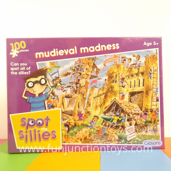Large gbs ss  spot the sillies gibsons puzzles mudieval madness  w