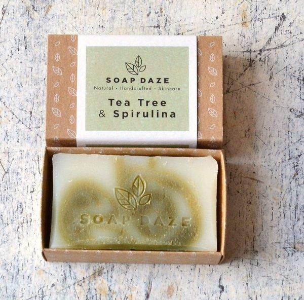 Large tea tree spirulina handmade vegan natural soap 2400x