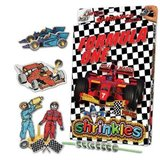 Small formula one 1 shrinkles shrinkies shrinks craft bag personalised personalisation colouring colour in