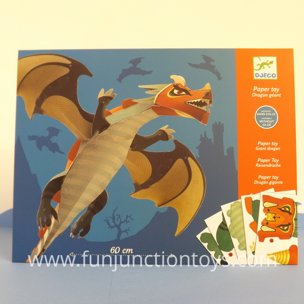 Large dj ck paper toy giant dragon  w