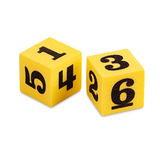 Small soft number dice from learning resources