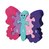 Small butterfly number puzzle 1 to 5 one to five jigsaw puzzle lanka kade fair trade toy toys wooden wood natural fun junction toy shop stop store crieff perth perthshire scotland