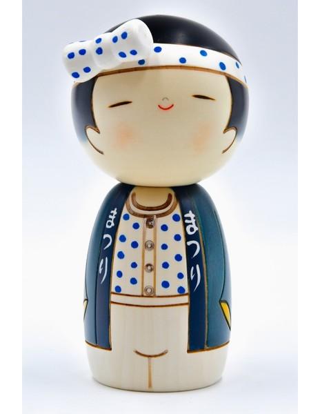 Large kokeshi doll party boy wasshoi boy