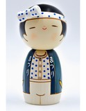Small kokeshi doll party boy wasshoi boy