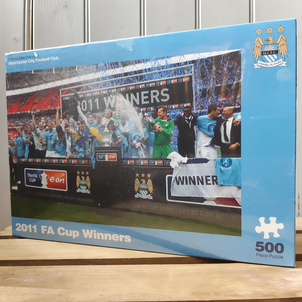 Large jigsaw football manchester city football club mcfc 2011 fa cup winners