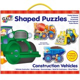 Small galt shaped puzzles construction vehicles 3  4  5  and 6 piece puzzles
