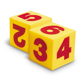 Small giant foam number dice by learning resources