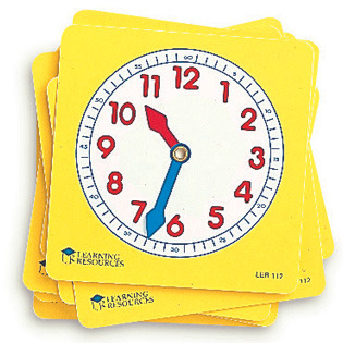 Large learning resources pupil clock face dials learn to tell time teachers teacher s resource
