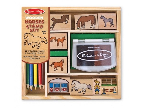 Large horses stamp set