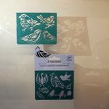 Small djeco pocket money plastic reusable adhesive stencils birds 2
