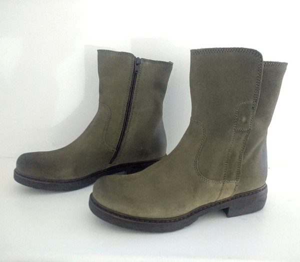 Large green suede ankle boot blink falmouth manas