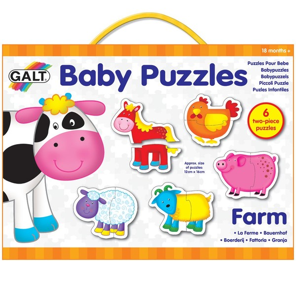 Large fun junction galt jigsaw jig saw puzzle baby animal puzzles preschool early years toddler