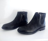 Small low slung chelsea boot black leather falmouth