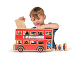 Small large bus toy with passengers pasengers lanka kade fair trade toy toys wooden wood natural fun junction toy shop stop store crieff perth perthshire scotland 2