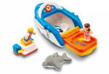 Small dannys diving adventure bath toy boat dolphin diving board figures wow toys preschool plastic safe no batteries toy fun junction toys crieff perth perthshire scotland