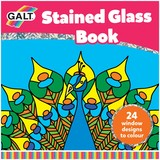 Small galt stained glass book 24 twenty four translucent pages to colour and create your own stained glass effect for children aged 5 five years and up