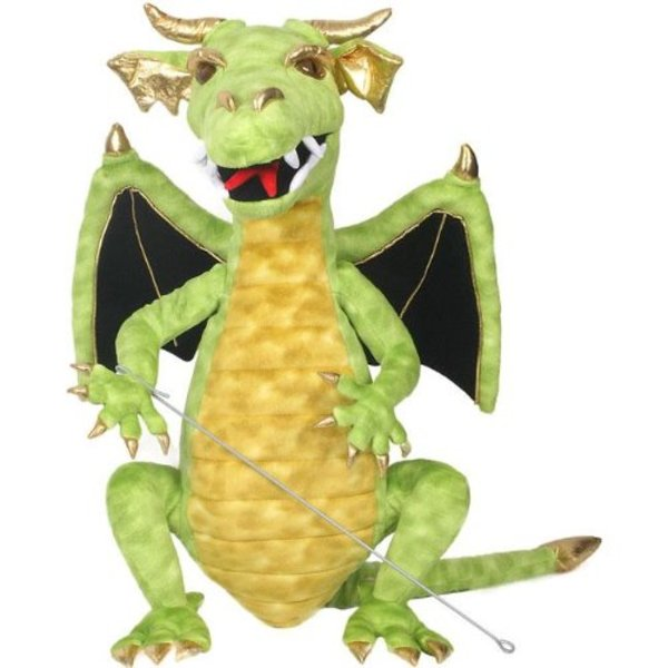 Large puppet company large green enchanted dragon
