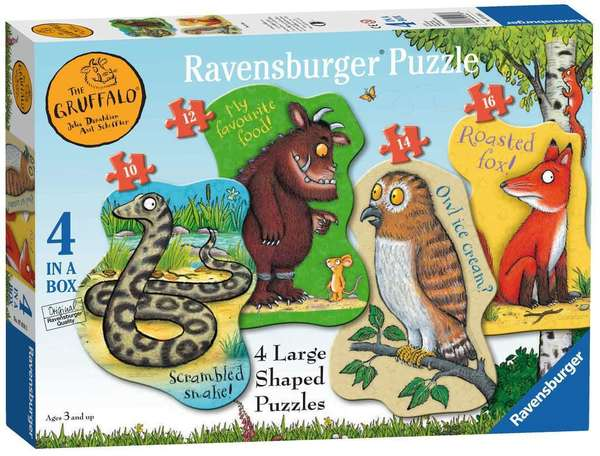 Large ravensburger fun junction toy shop perth crieff perthshire scotland jigsaw puzzle jig saw gruffalo 4 large shaped puzzles