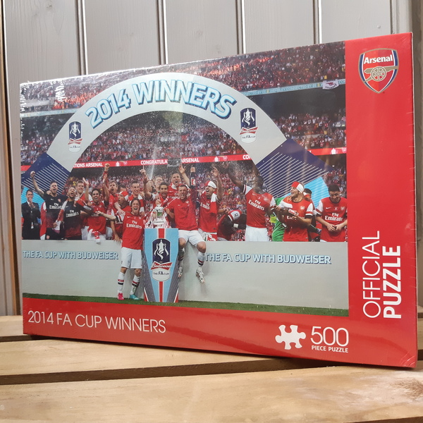 Large jigsaw football arsenal 2014 fa cup winners