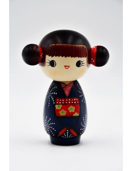 Large kokeshi doll good mood gokigen