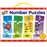Small galt number puzzles 10 ten 3 three piece number jigsaws with number symbol word and quantity for children aged 3 three years and up