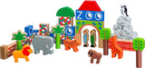 Small zoo themed building blocks lion giraffe elephant penguin lanka kade fair trade toy toys wooden wood natural fun junction toy shop stop store crieff perth perthshire scotland 3