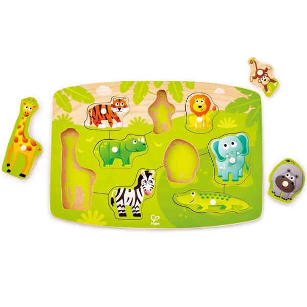 Large jungle peg puzzle