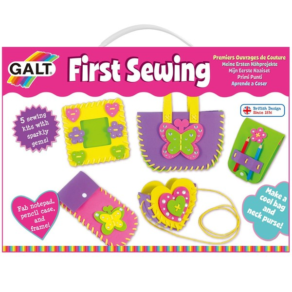 Large fun junction toy shop crieff perth perthshire scotland galt fist sewing simple sewing set kit for children aged 5 five years and up