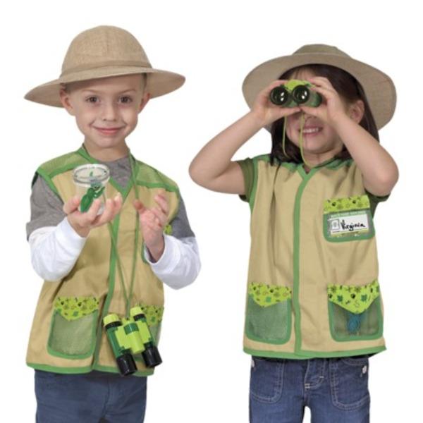 Large melissa and doug back yard explorer dress up kit science preschool