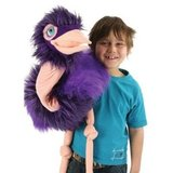 Small puppet company giant bird ostrich